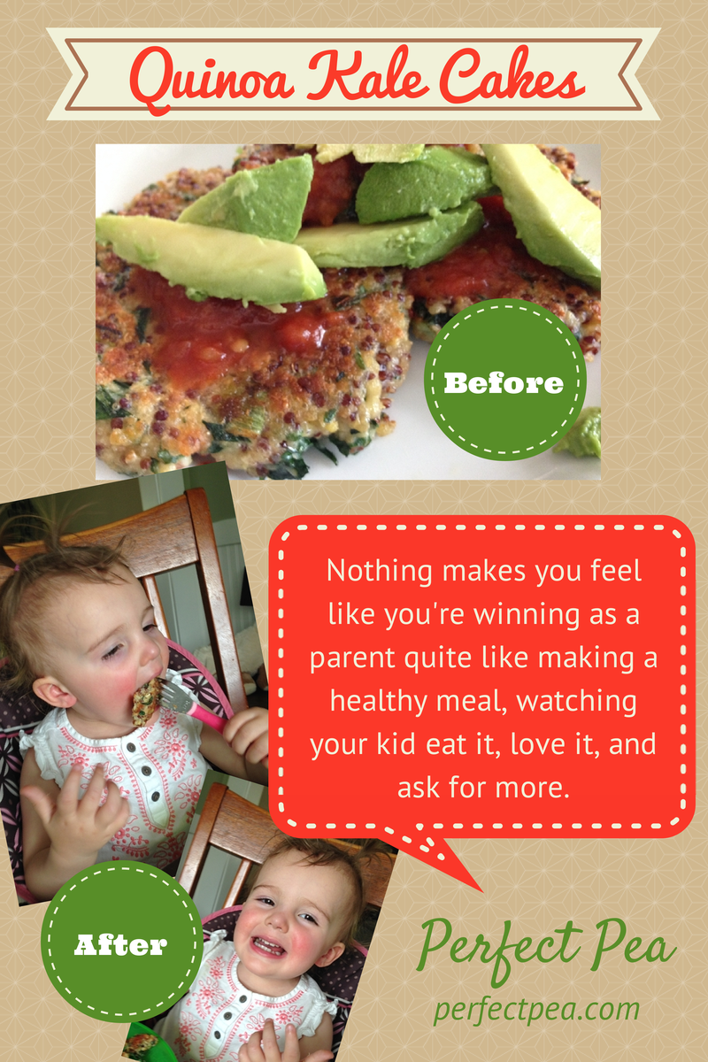 Quinoa Kale Cakes – Before & After