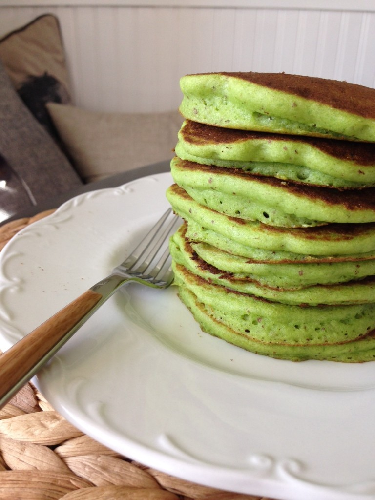 Stack of Spinach Pancakes
